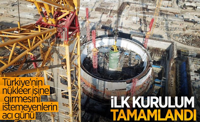 Akkuyu NGS'de ilk reaktör kabının kurulumu yapıldı