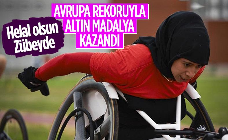 Para Atletizm Avrupa Şampiyonası'nda Zübeyde Süpürgeci'den altın madalya
