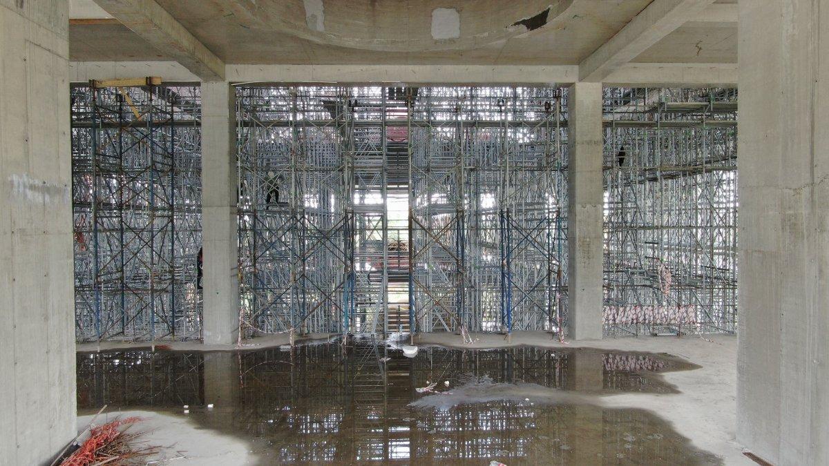 Barbaros Hayrettin Paşa Cami nin yüzde 75 i tamamlandı #6