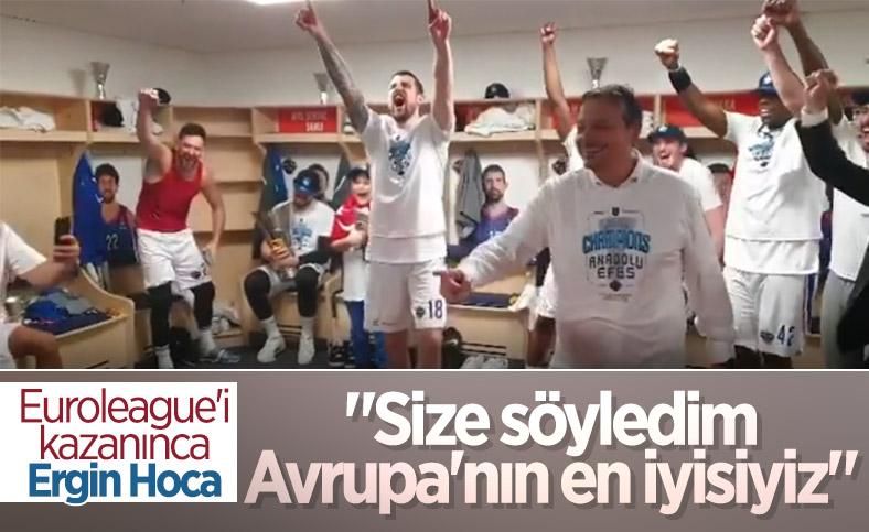 Ergin Ataman: Size söyledim, biz Avrupa'daki en iyi takımız