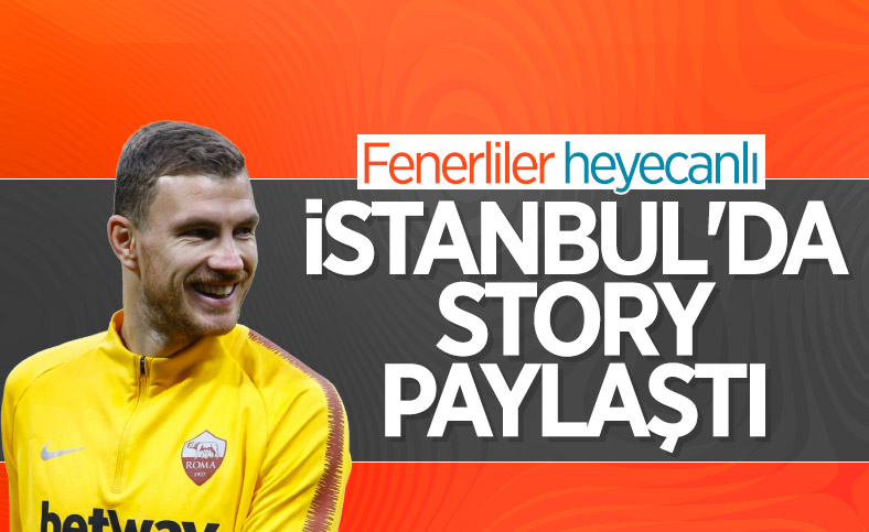 Edin Dzeko İstanbul'da story attı