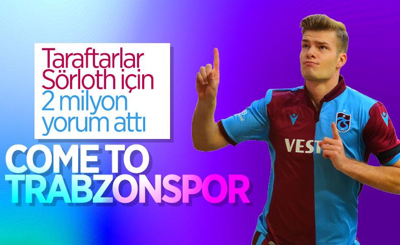 Trabzonsporlulardan Alexander Sörloth'a mesaj yağmuru