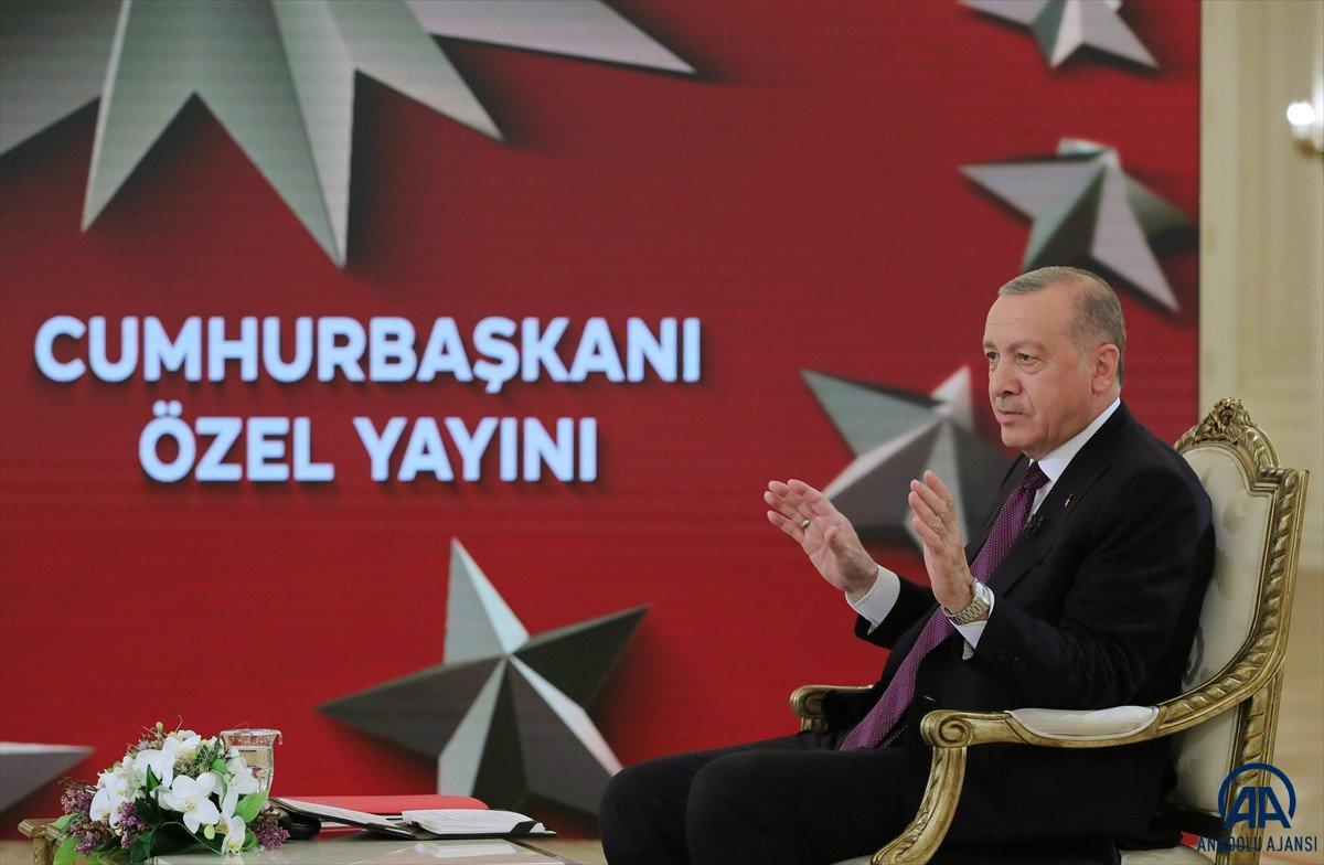 Cumhurbaşkanı Erdoğan dan canlı yayında açıklamalar #1