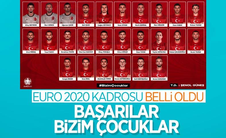 A Milli Futbol Takımı'nın EURO 2020 kadrosu belirlendi