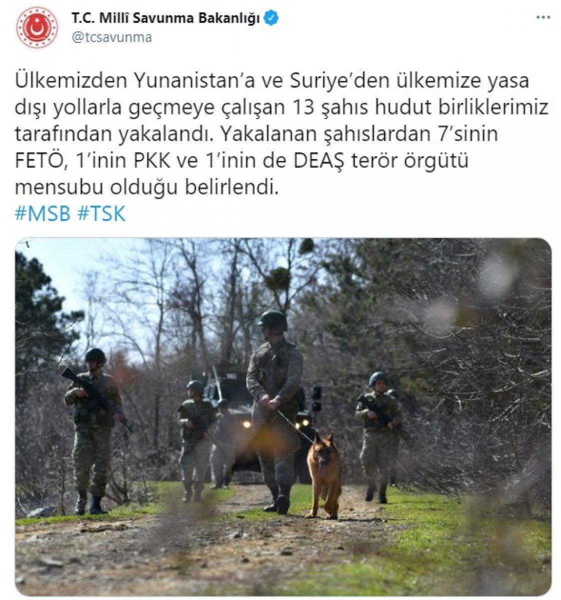 Yasa dışı yollarla sınırı geçmeye çalışan 9 terörist yakalandı #1