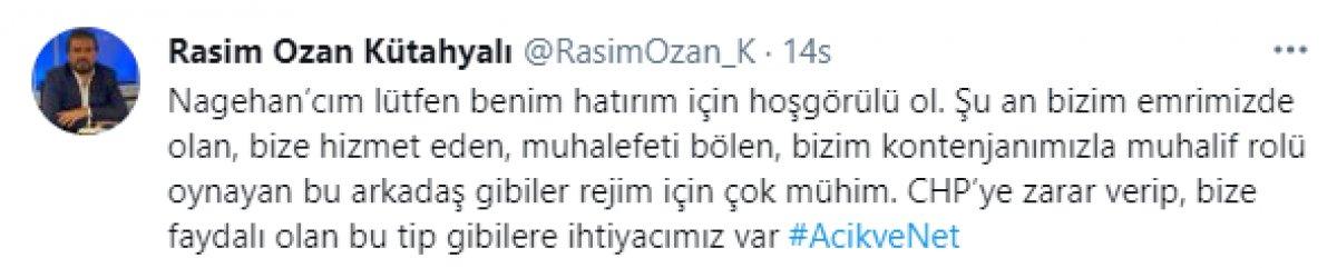 Nagehan Alçı ve Rasim Ozan Kütahyalı sosyal medyada birbirine girdi #1