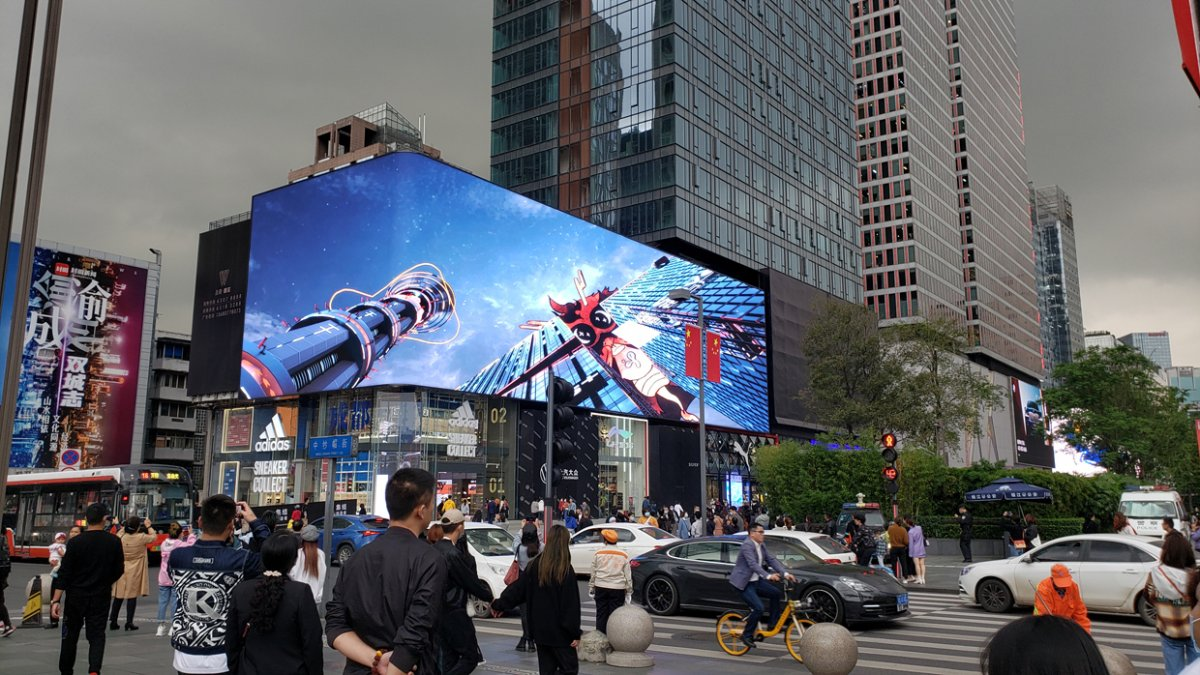 Çin'de 3 boyutlu reklamlar görenleri şaşırtıyor #2