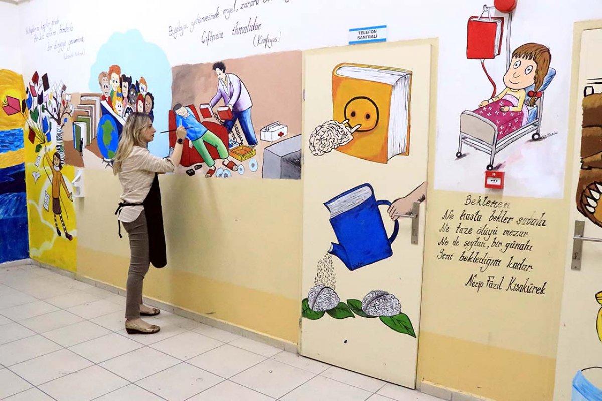 Elazığ da fırçasıyla okullar renkleniyor #2