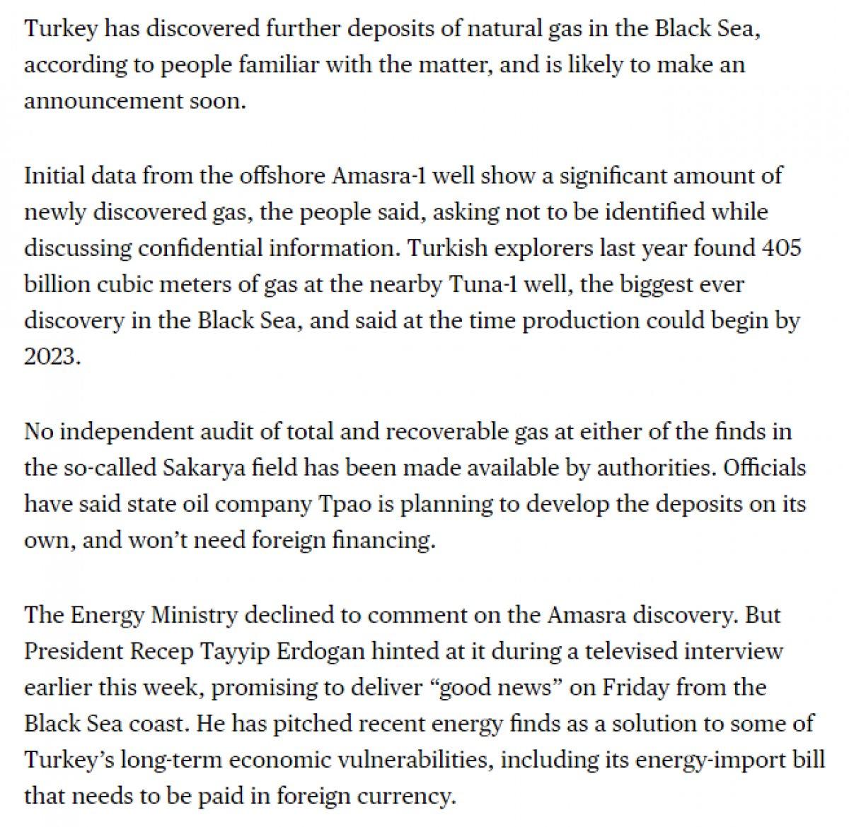 Bloomberg: Karadeniz de yeni bir doğalgaz keşfi duyurusu bekleniyor #2