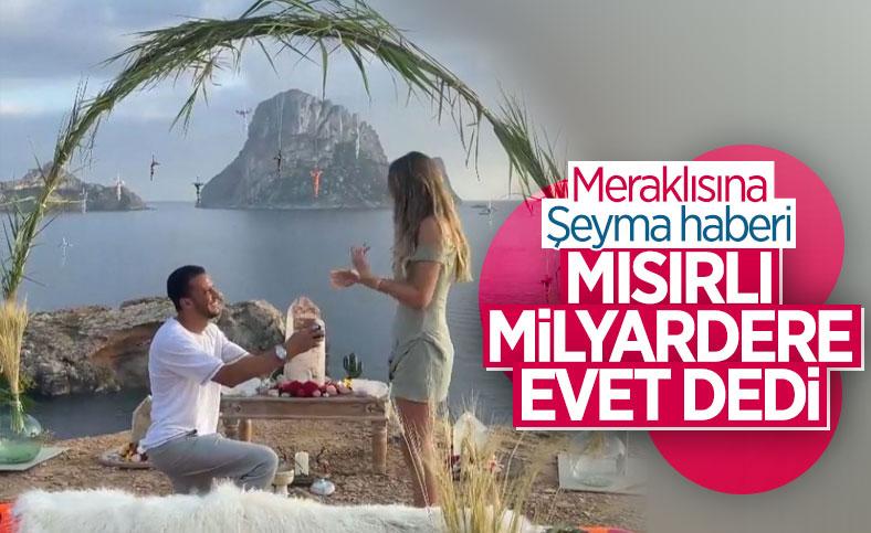 Mısırlı sevgilisinden Şeyma Subaşı'na sürpriz evlilik teklifi