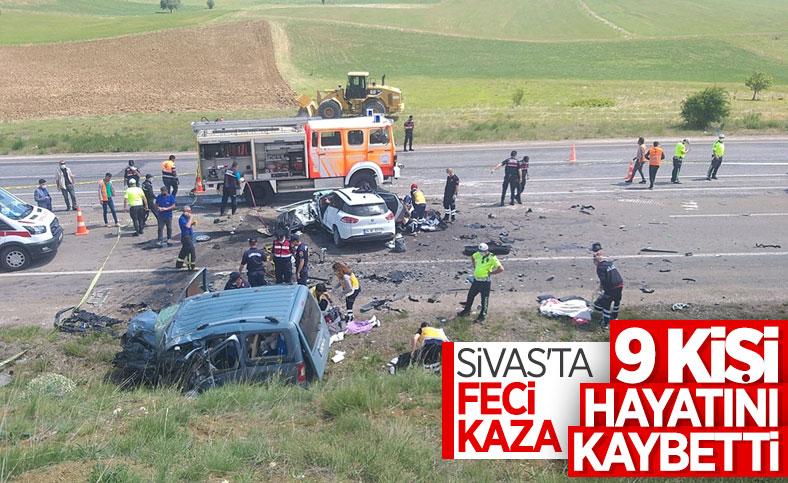 Sivas'ta kaza: 9 ölü