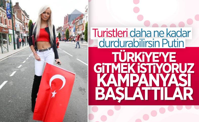 Rus turistlerden 'Türkiye'ye gelmek istiyoruz' kampanyası