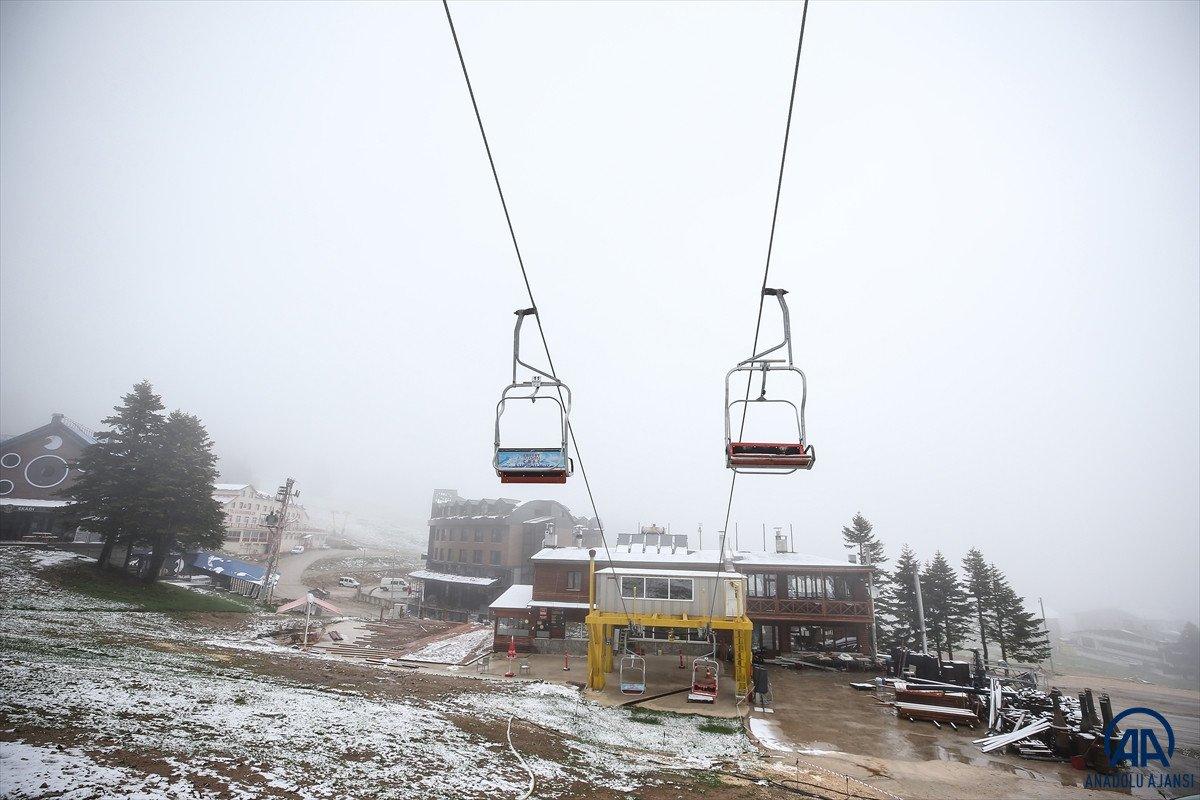 Uludağ'a Haziran ayında kar yağdı #8