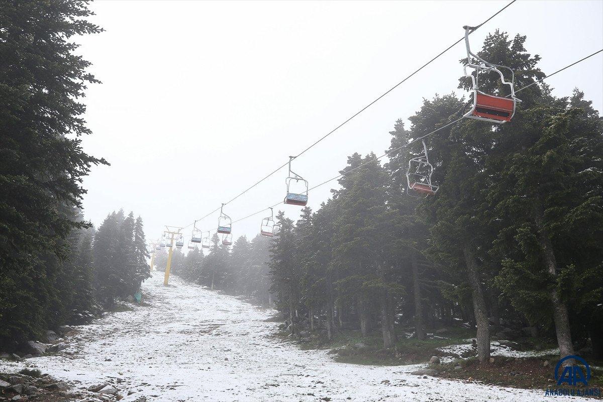 Uludağ'a Haziran ayında kar yağdı #7