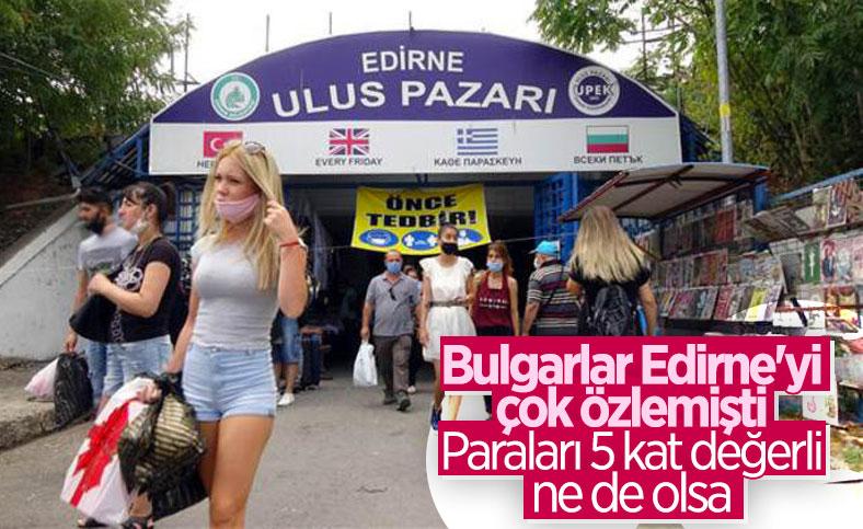 Edirne'de, Bulgar turistlerin akın ettiği Ulus Pazarı yeniden açıldı