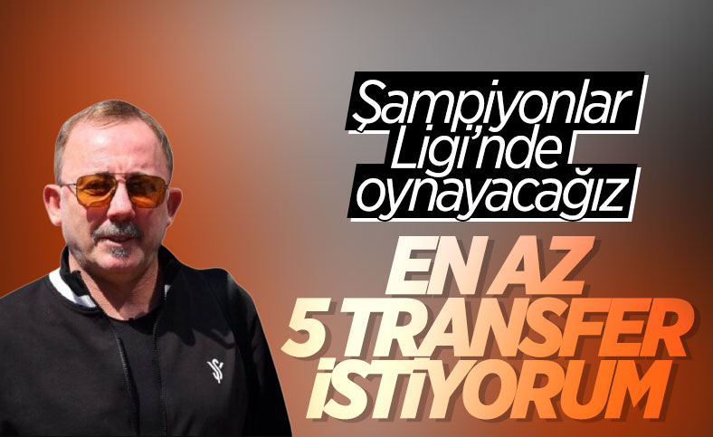 Sergen Yalçın, yönetimden 5 transfer istedi