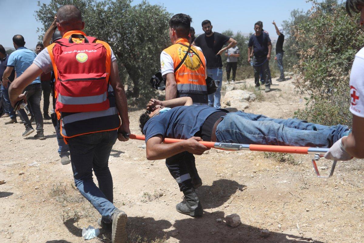 İsrail den Nablus taki protestolara müdahale #7