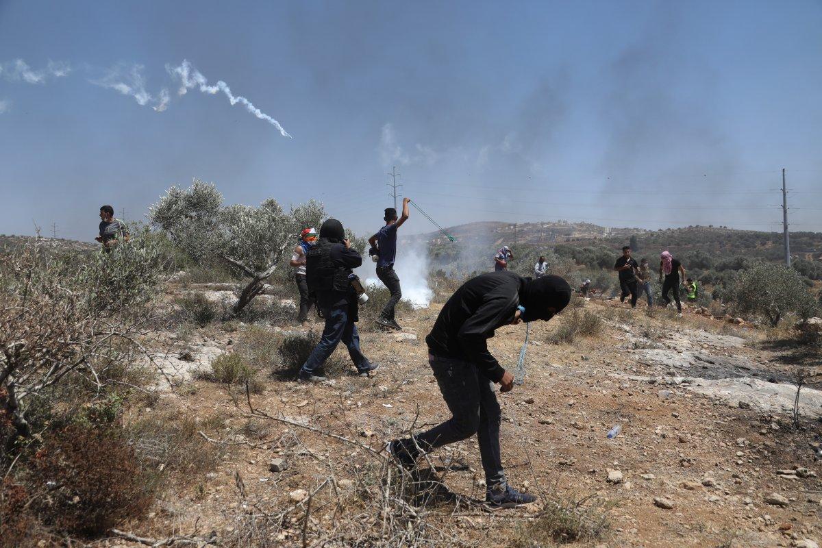 İsrail den Nablus taki protestolara müdahale #6