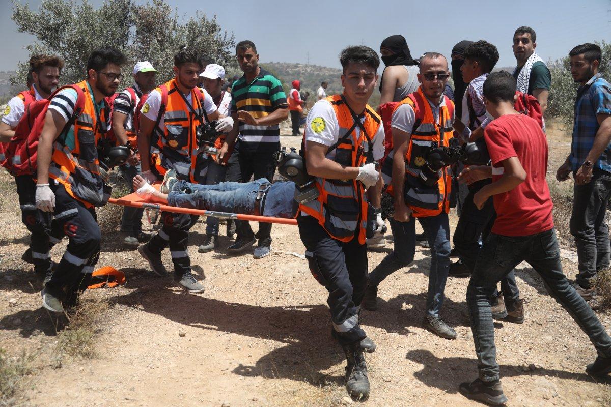 İsrail den Nablus taki protestolara müdahale #4