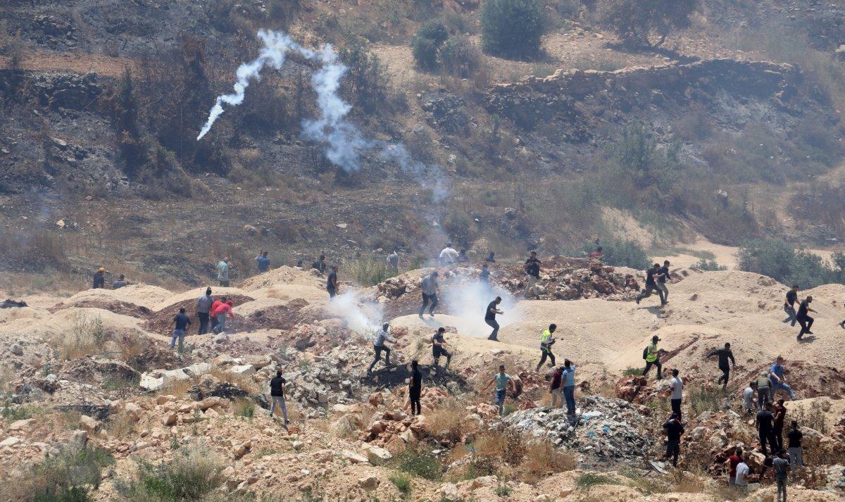 İsrail den Nablus taki protestolara müdahale #1