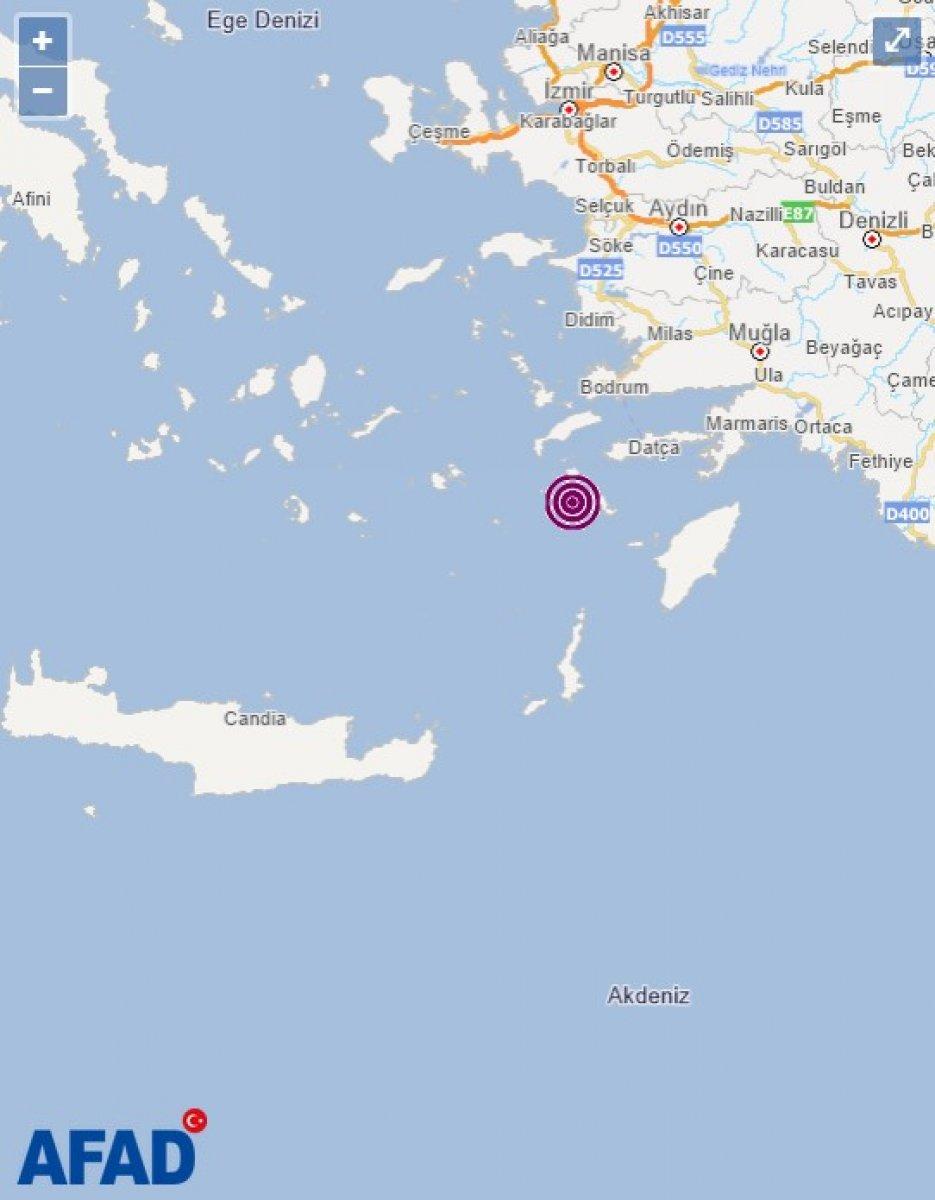 Ege Denizi nde 4,1 büyüklüğünde deprem #1