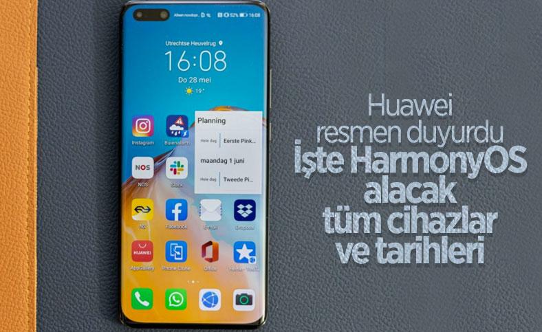Huawei, HarmonyOS alacak cihazların listesini paylaştı