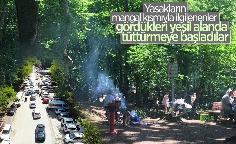 Belgrad Ormanı'nda kısıtlamasız ilk cumartesi yoğunluğu