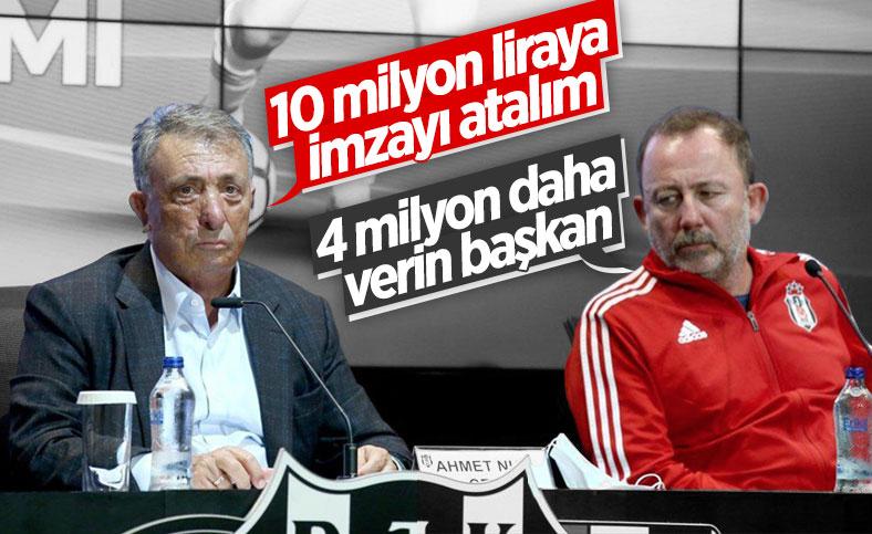 Sergen Yalçın'ın Beşiktaş'tan istekleri