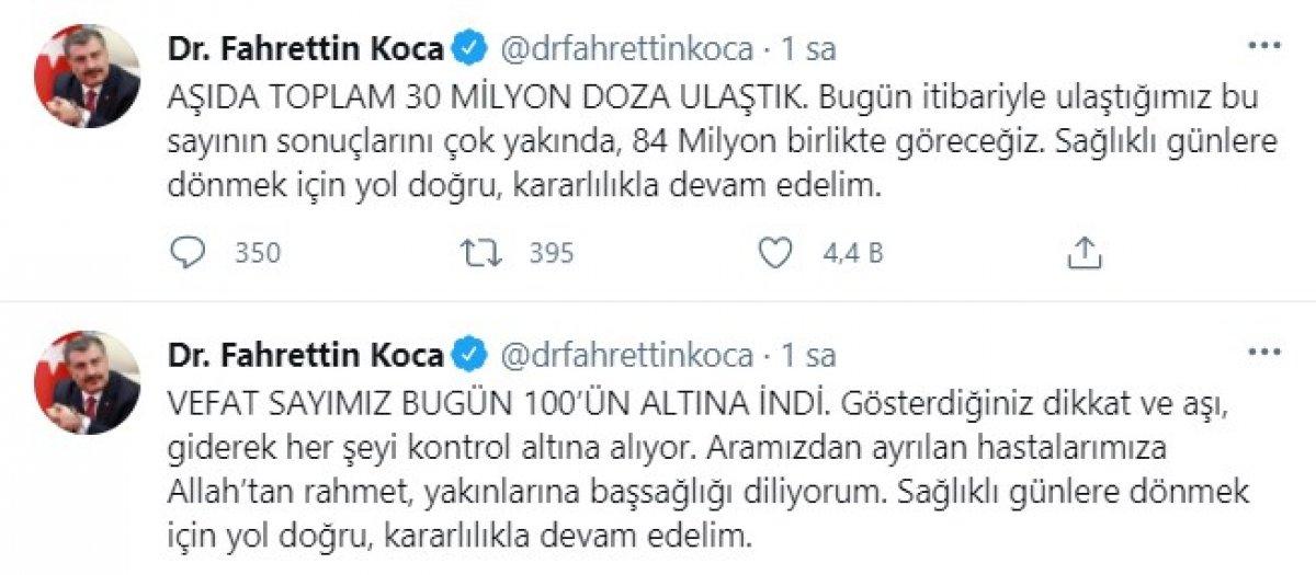 Fahrettin Koca dan kararlılık çağrısı #1
