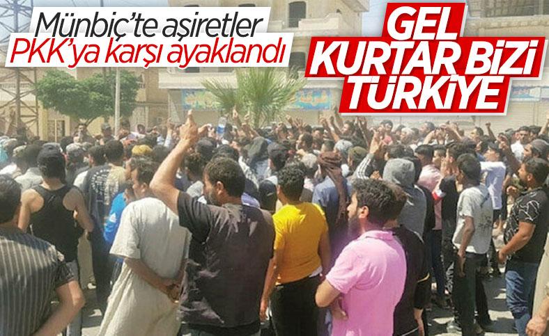 Münbiç'te aşiretler PKK'ya karşı ayaklandı