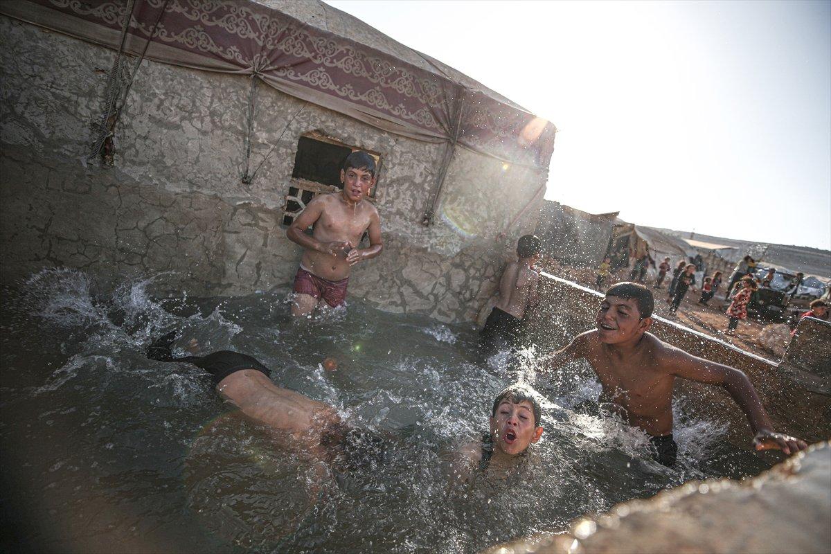 Suriyeli çocukların havuz keyfi  #7