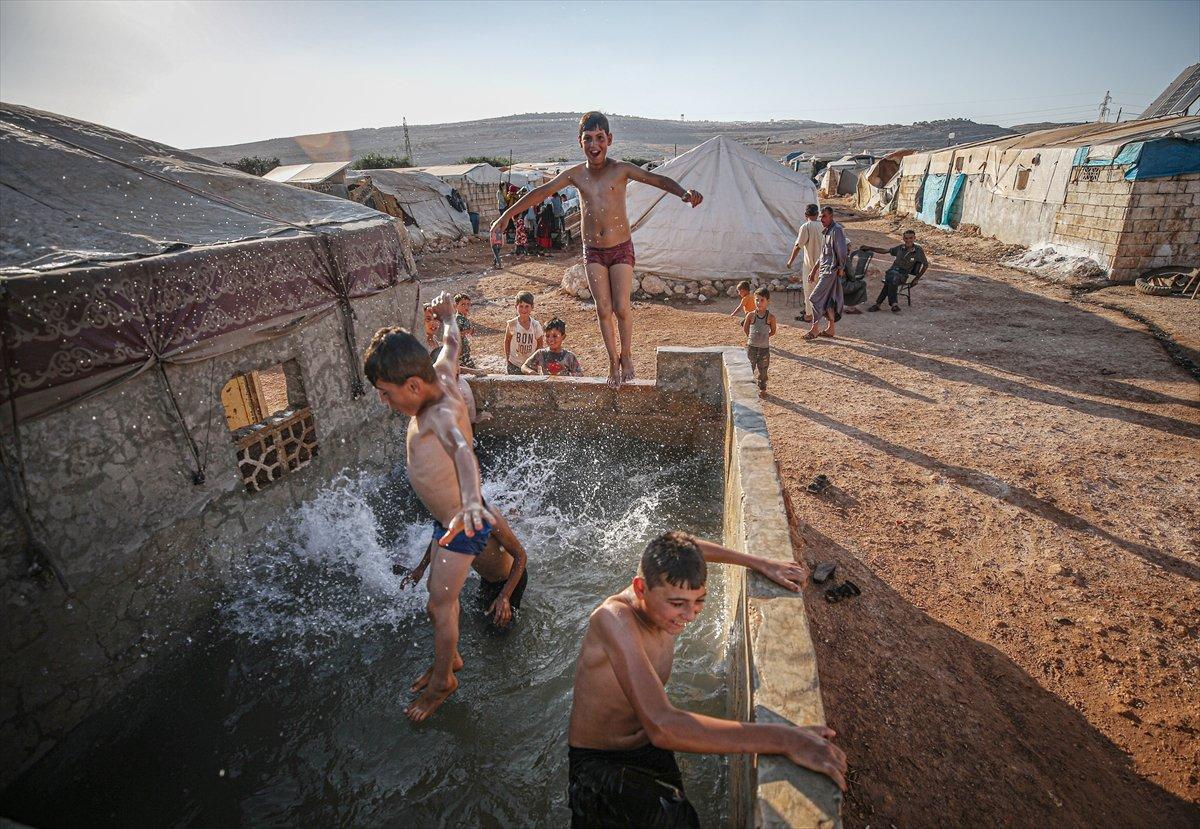 Suriyeli çocukların havuz keyfi  #10