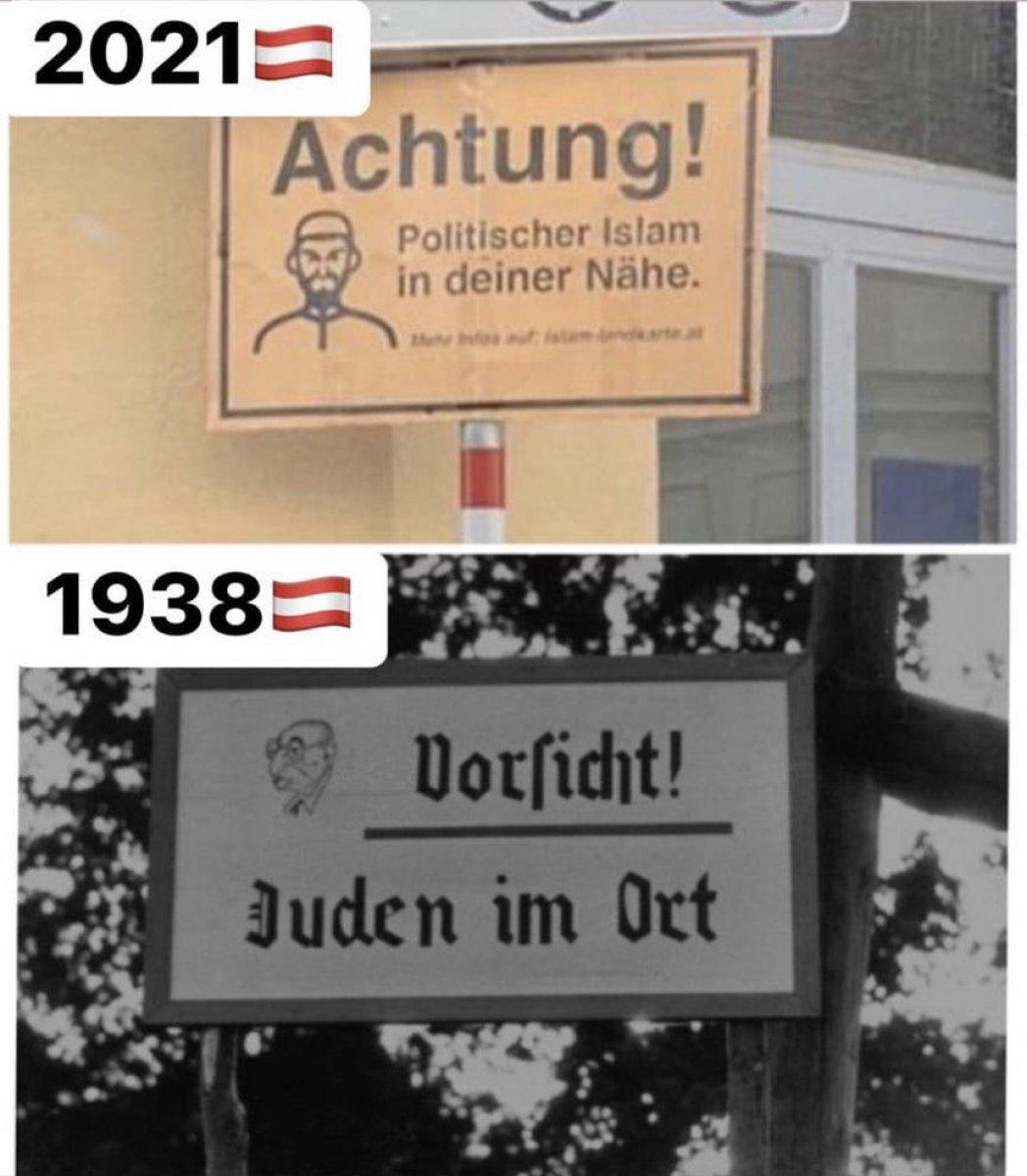 Avusturya'da Müslümanlara karşı ırkçı tabelalar #1