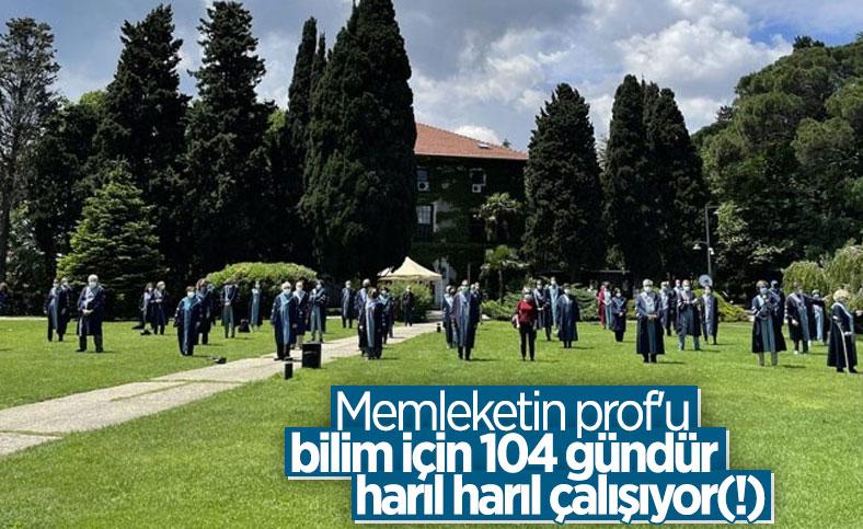 Boğaziçi'nde akademisyenler eylemlerinin 104. gününde