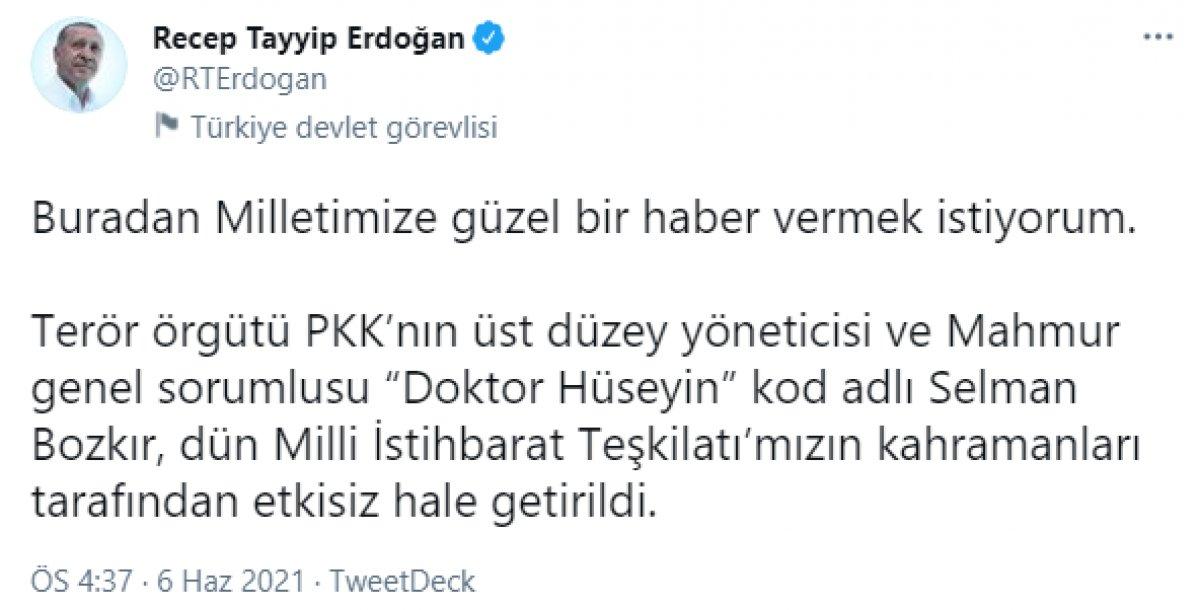 Cumhurbaşkanı Erdoğan: Selman Bozkır, etkisiz hale getirildi #2