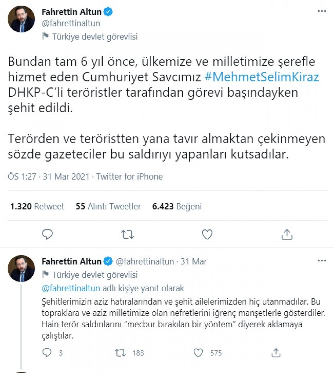 Ahmet Şık, Fahrettin Altun'un paylaşımdan şikayetçi oldu #2