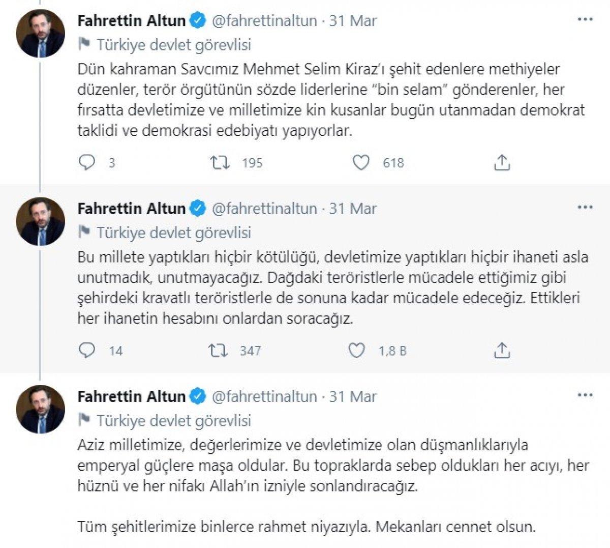 Ahmet Şık, Fahrettin Altun'un paylaşımdan şikayetçi oldu #3