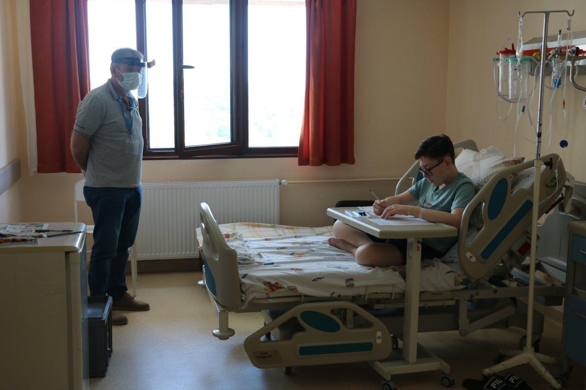 Edirne de, hastane odasında LGS ye girdi #1
