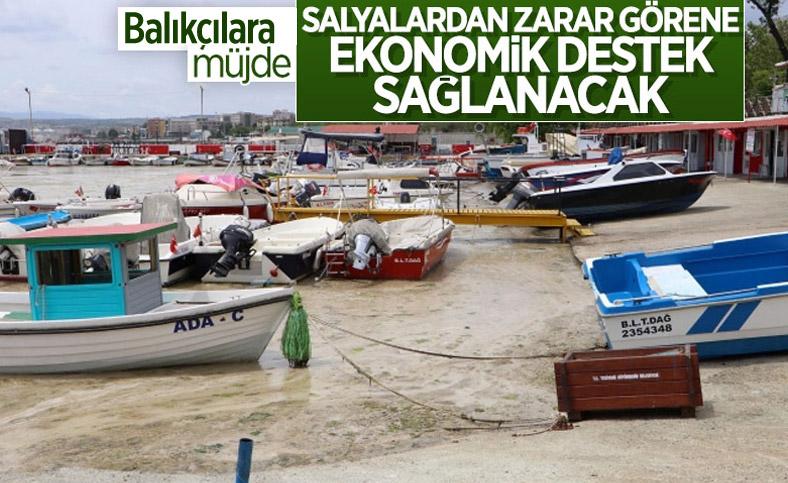 Müsilaj nedeniyle zarar gören balıkçılara ekonomik destek