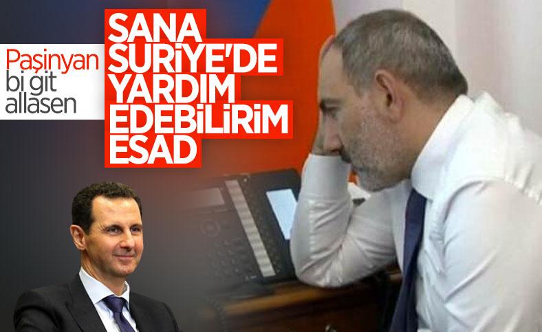 Nikol Paşinyan, Beşar Esad'ı tebrik etti