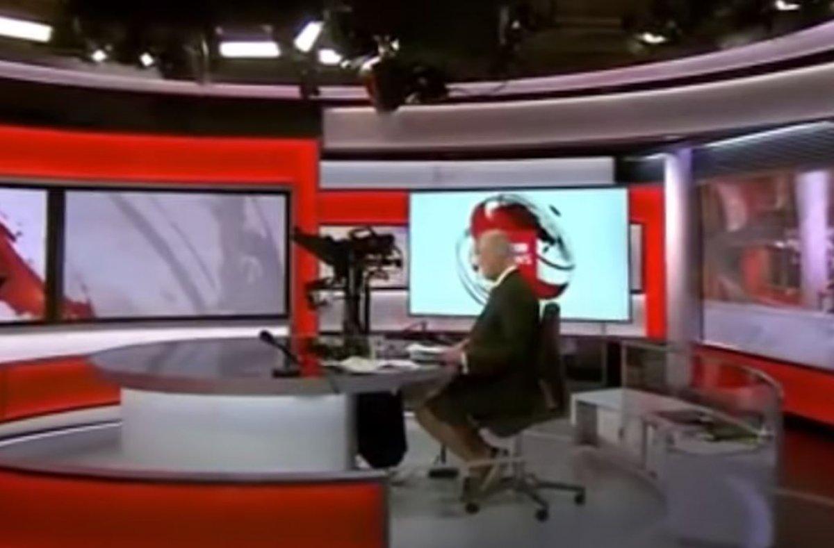 BBC spikeri Shaun Ley, haber bültenine şortla çıktı #1