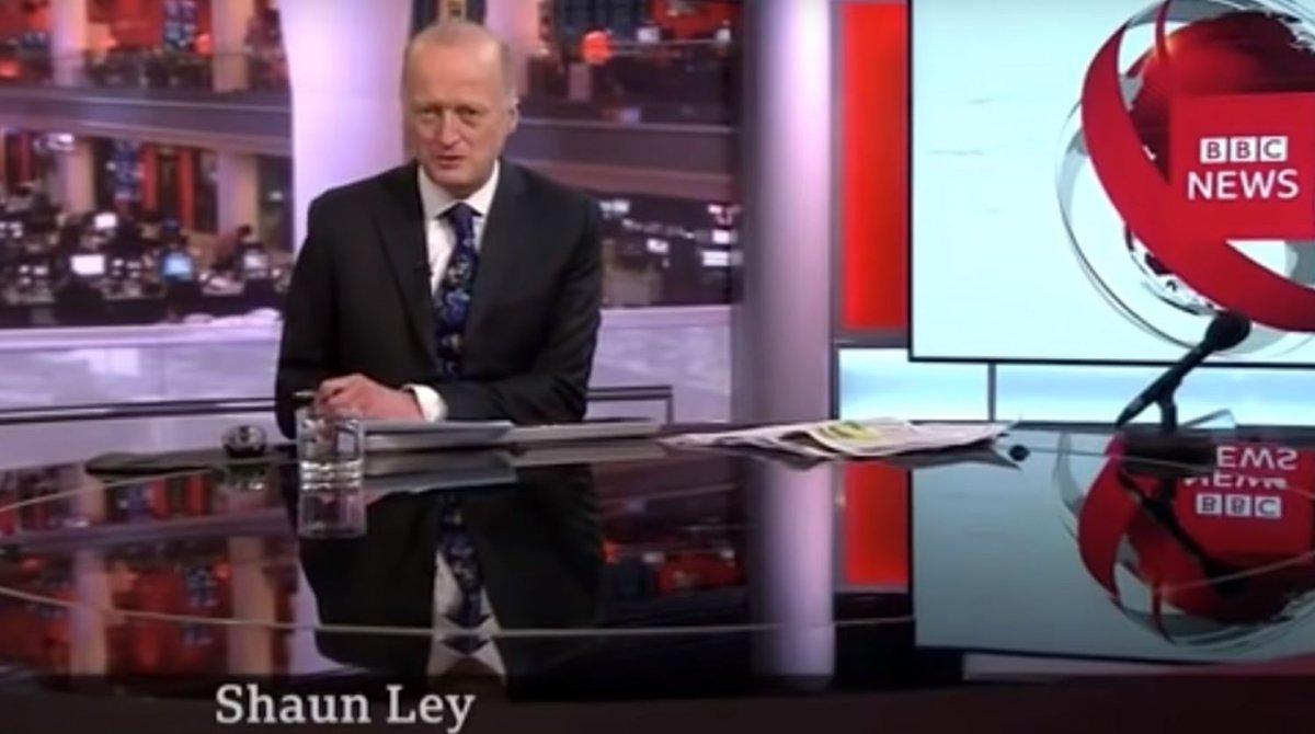 BBC spikeri Shaun Ley, haber bültenine şortla çıktı #2