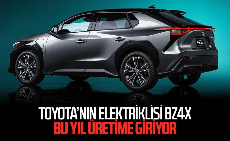 Toyota'nın yeni elektrikli otomobili bZ4X'in üretimi başlıyor