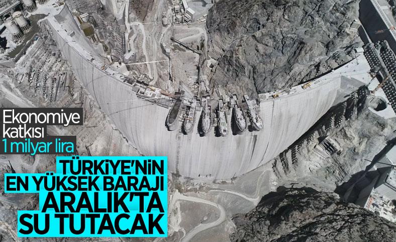 Yusufeli Barajı'nda aralık ayında su tutulmaya başlanacak