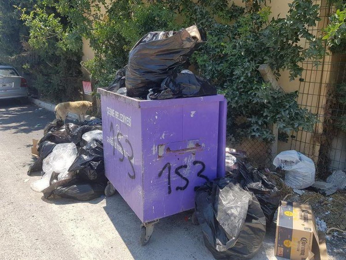 CHP nin yönetimindeki Çeşme de çöp krizi #2