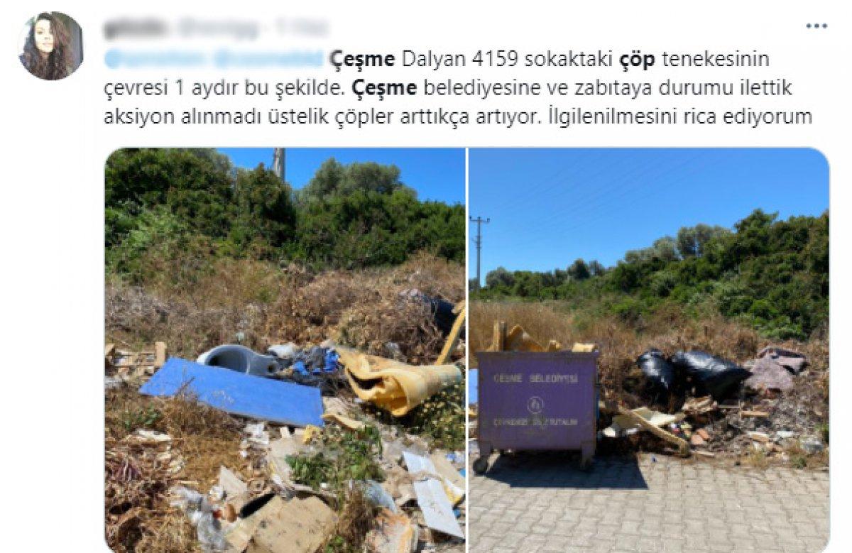 CHP nin yönetimindeki Çeşme de çöp krizi #5