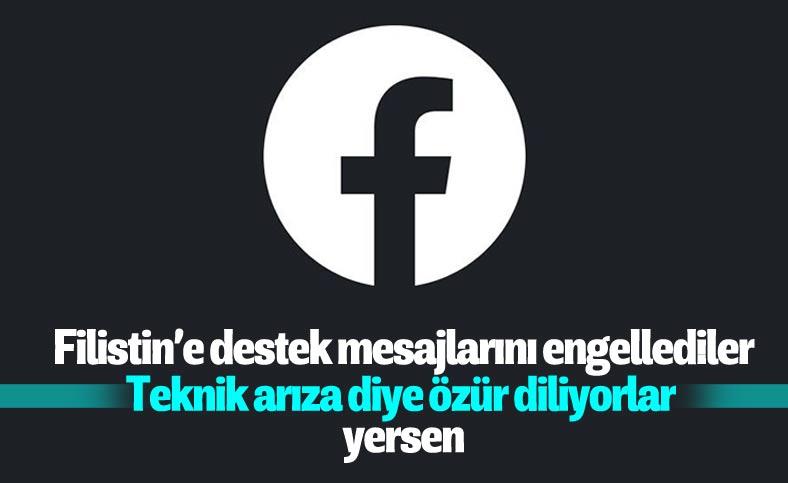 Facebook'tan engellenen Filistin paylaşımları için özür
