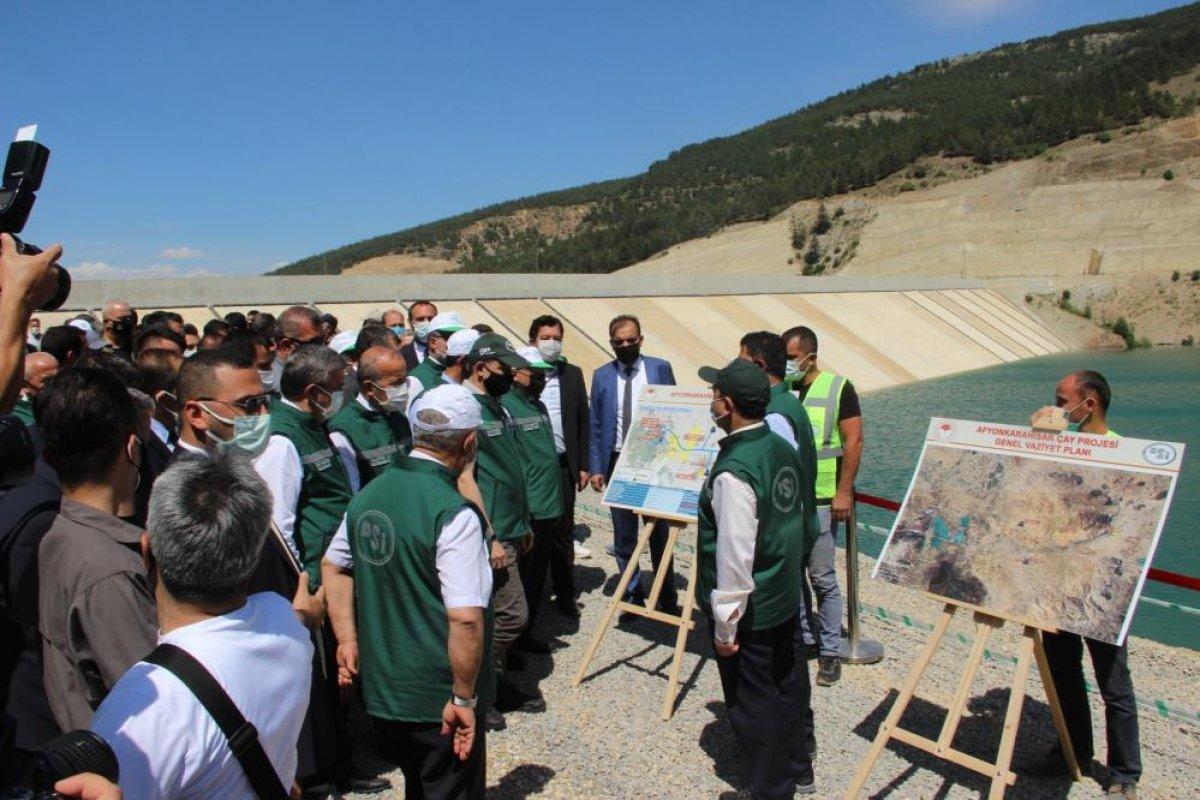 Bekir Pakdemirli, Çay Barajı'ndan ilk suyu verdi  #1
