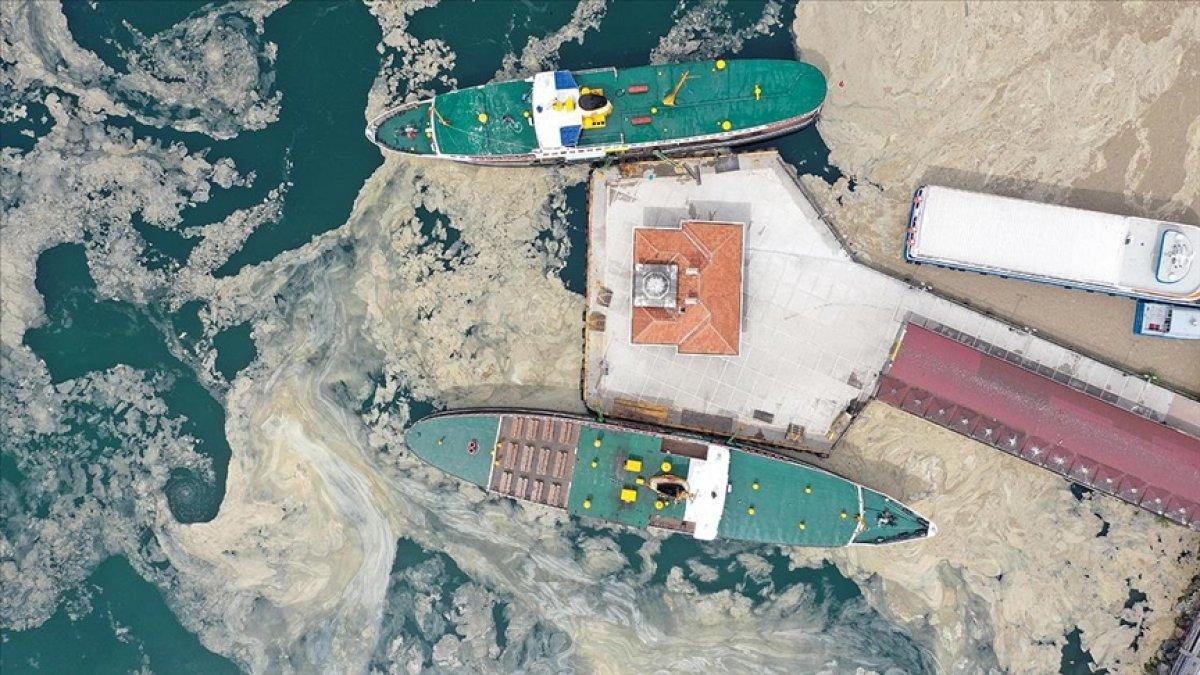 Marmara Denizi ndeki deniz salyasına, reaktif oksijen yöntemiyle çözüm #4