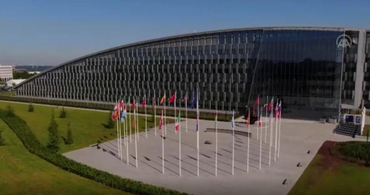 NATO Karargahı binası ilk kez havadan görüntülendi #1